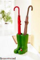 Kerámia műkő esernyő tartó, virág kaspó új