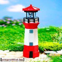 Napelemes világítótorony új kerti dekoráció