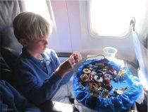 Lego tároló zsák, játék rendező kék új 37cm