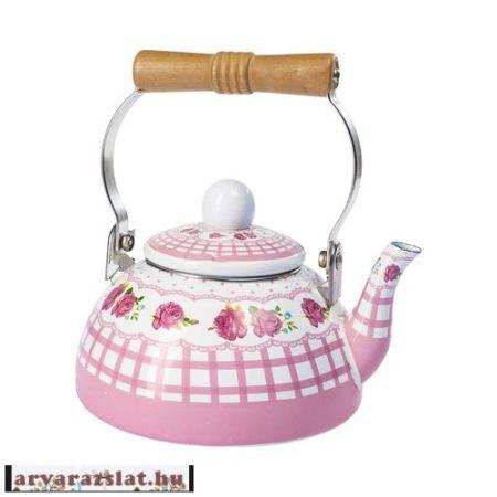 Romantikus zománc teáskanna új