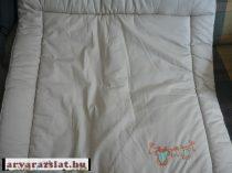 Bornino drapp himzett textil pelelenkázólap,pelenkázófeltét új