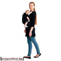 Babycab Lana  ergonomikus hordozó,kenguru fekete új Különlegesség h