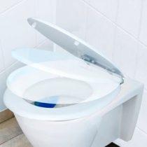 fehér wc deszka biztonsági ülőke új