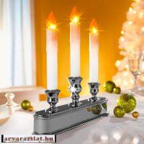Ledes fényérzékelő gyertya ezüst új