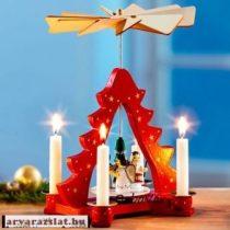 Hőre forgó fa karácsonyi dekoráció szarvasos forgó új