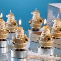 hóemberes karácsonyi mécses 6 db-os szett