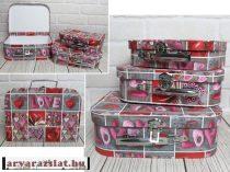 Karton börönd szív 3 db-os szett tároló doboz