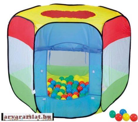Labdás sátor 100 labdával új játszó sátor knorr xxl sátor