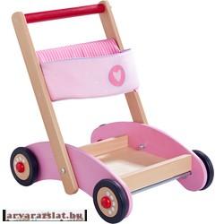 Haba járássegítő kis kocsi új fából rosa