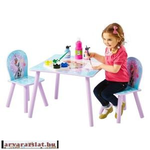 frozen jégvarázs asztal szett 2 székkel fából új