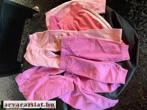 Kislány nadrág csomag, 74-80 méret 8 db