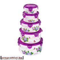 8 részes hortenziás műanyag edény szett