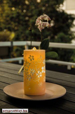 Led gyertya csobogó ünnepi dekoráció világít új távirányítóval