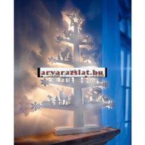 Fehér téli erdő fa karácsonyfa világító dekoráció új