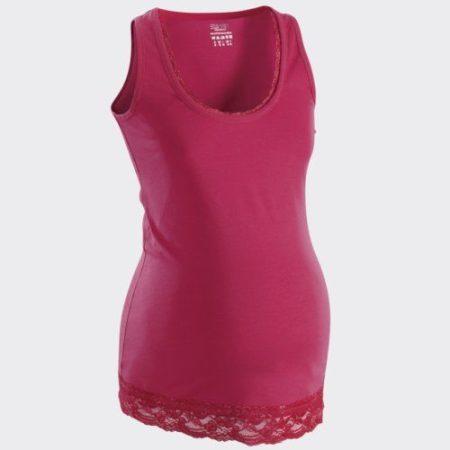 Esprit kismama trikó csipkés mályva m-es új