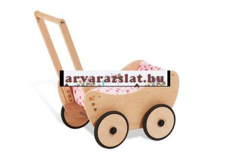 Pinolino fa járássegítő babakocsi,kiskocsi betéttel