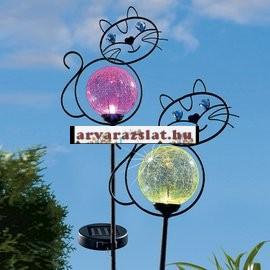 Napelemes színváltós gömb macskával új