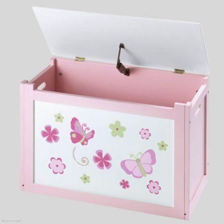 Pillangós játéktároló láda bútor új