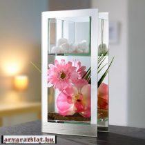 Orchideás köves üveg dekoráció