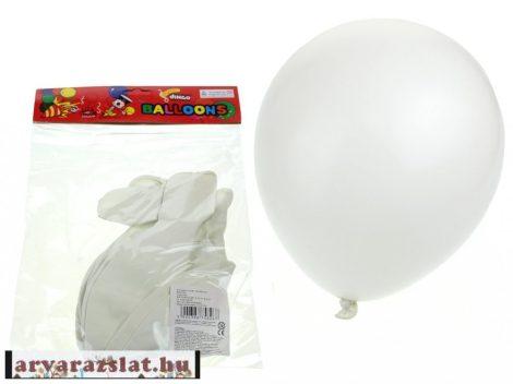 Nagy méretű 45 cm lufi  csomag fehér