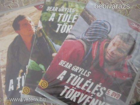 Bear Grylls DVD bontatlan a túlélés törvényei 3 db új