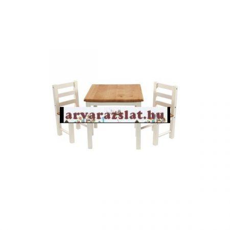 Tömör fa asztal szék szett új szh