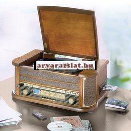 nosztalgia asztali zenegép-rádió (cd,kazetta,digitalizalo,bakelit ) új