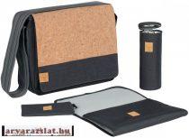 Lassig messenger bag cork gray pelenkázótáska új