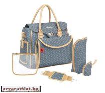 Babymoov Style Bag dotwork pelenkázótáska  kiegészítőkkel új