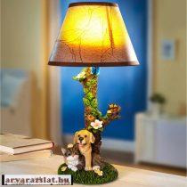 KUTYÁS-cicás dekor led lámpa új