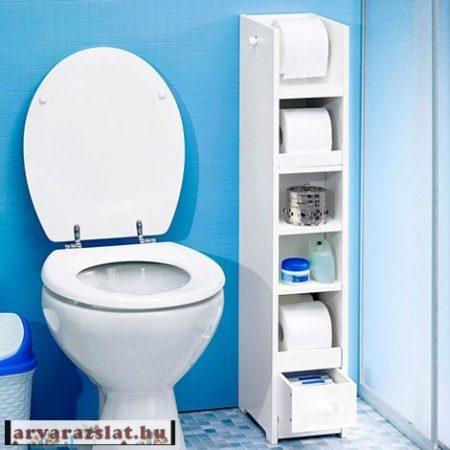 wc papír tároló polc, fürdőszobvai polc fa