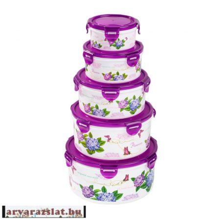 10 részes hortenziás müanyag edény szett