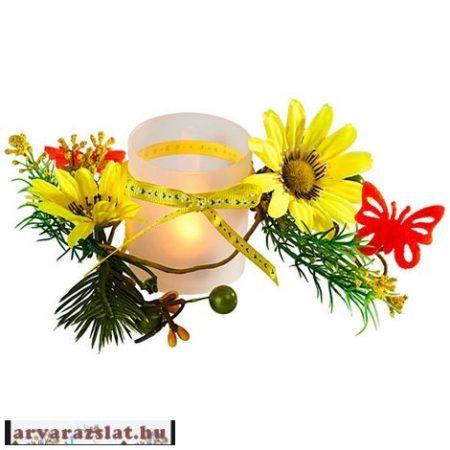 Ledes asztaldísz virágokkal új