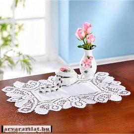 Romantikus virággal díszített kis váza új
