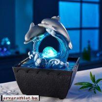 Delfines csobogó új szobaszökőkút