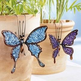 Fém dekor pillangó :lila új