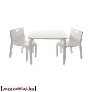 Gyerek fa asztal szék garnitúra asztal szett YORK skandináv design új fehér