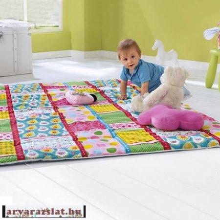 Vastag nagy méretű játszószőnyeg,piknik takaró steppelt bemutatódarab a,d