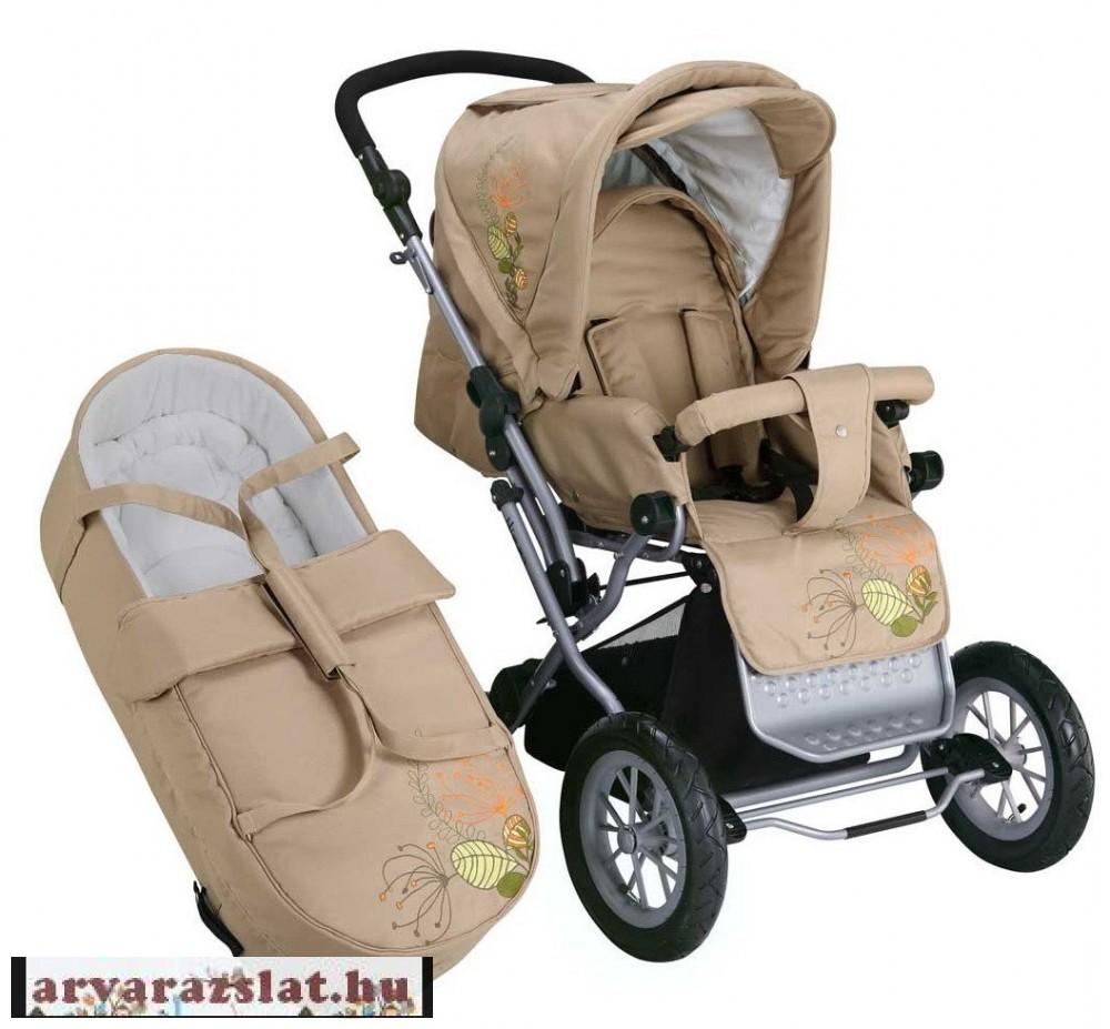 Knorr baby átfordítható tolókaros babakocsi és mózes nizza beige h ... b74264cb1c