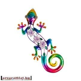 Szivárvány fém Salamandra új dekoráció