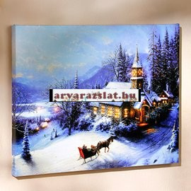 Világító karácsonyi kép új