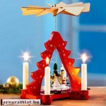 Hőre forgó fa karácsonyi dekoráció   új