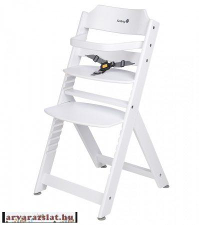 Safety Timba fa 3in1 etetőszék karfával új fehér