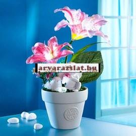 Madaras-angyalkás világító liliom dekoráció új