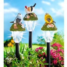 Solar napelemes lámpa. madarak szett 3 db új