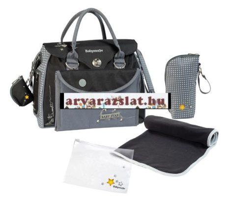 Babymoov pelenkázó táska babatáska baby style fekete-szürke új