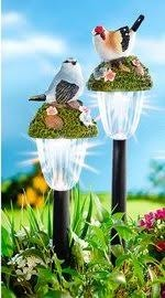 Solar napelemes lámpa. madarak szett 2 db