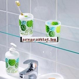 Komplett szett a fürdőszobába új zuhanyfüggöny,szappanadagoló,pohár,fogkefetartó