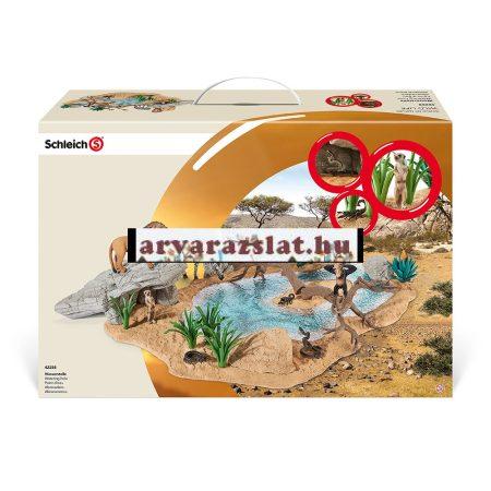 Schleich 42258 Vízlelőhely építójáték ,gyerekjáték komplett szett új