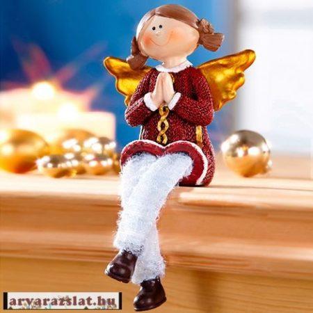 ültethető angyalka karácsonyi dekoráció új